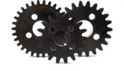 Photo of fly-wheel gears